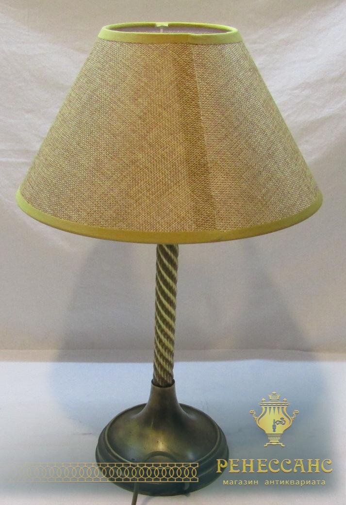Лампа старинная, светильник латунный №4171