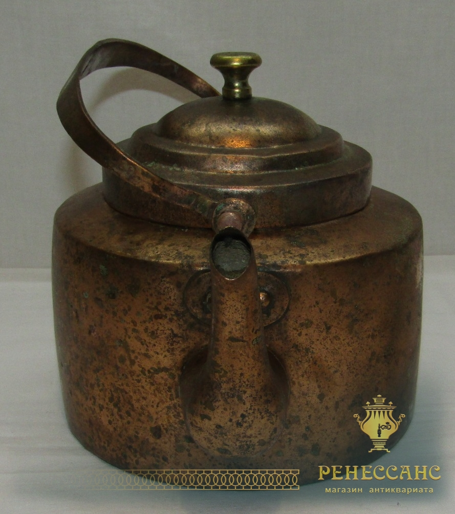 Чайник старинный коллекционный «Зуев» 19 век №4197