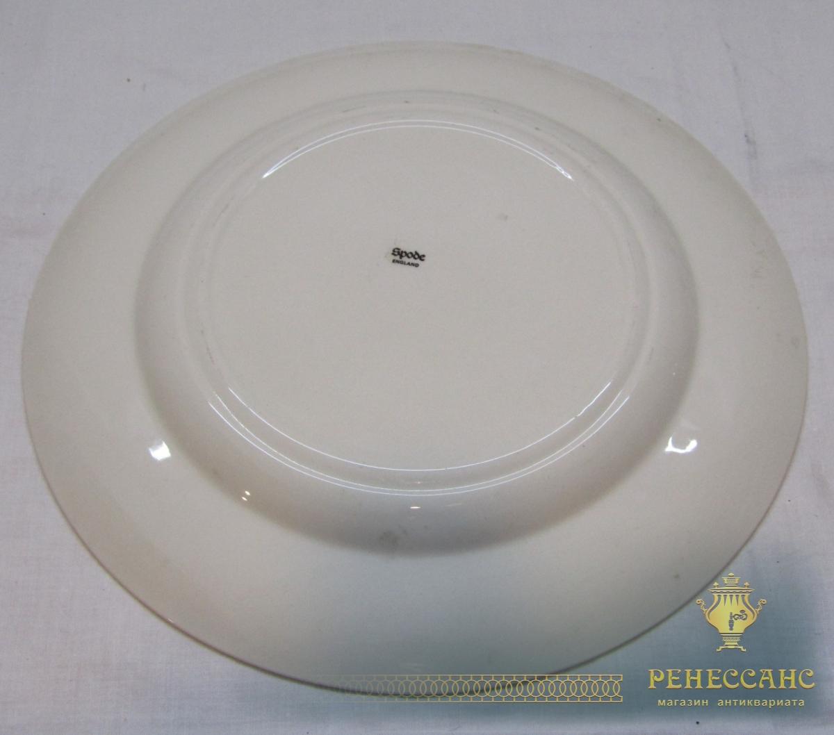 Тарелка старинная, фарфор, Англия №4155