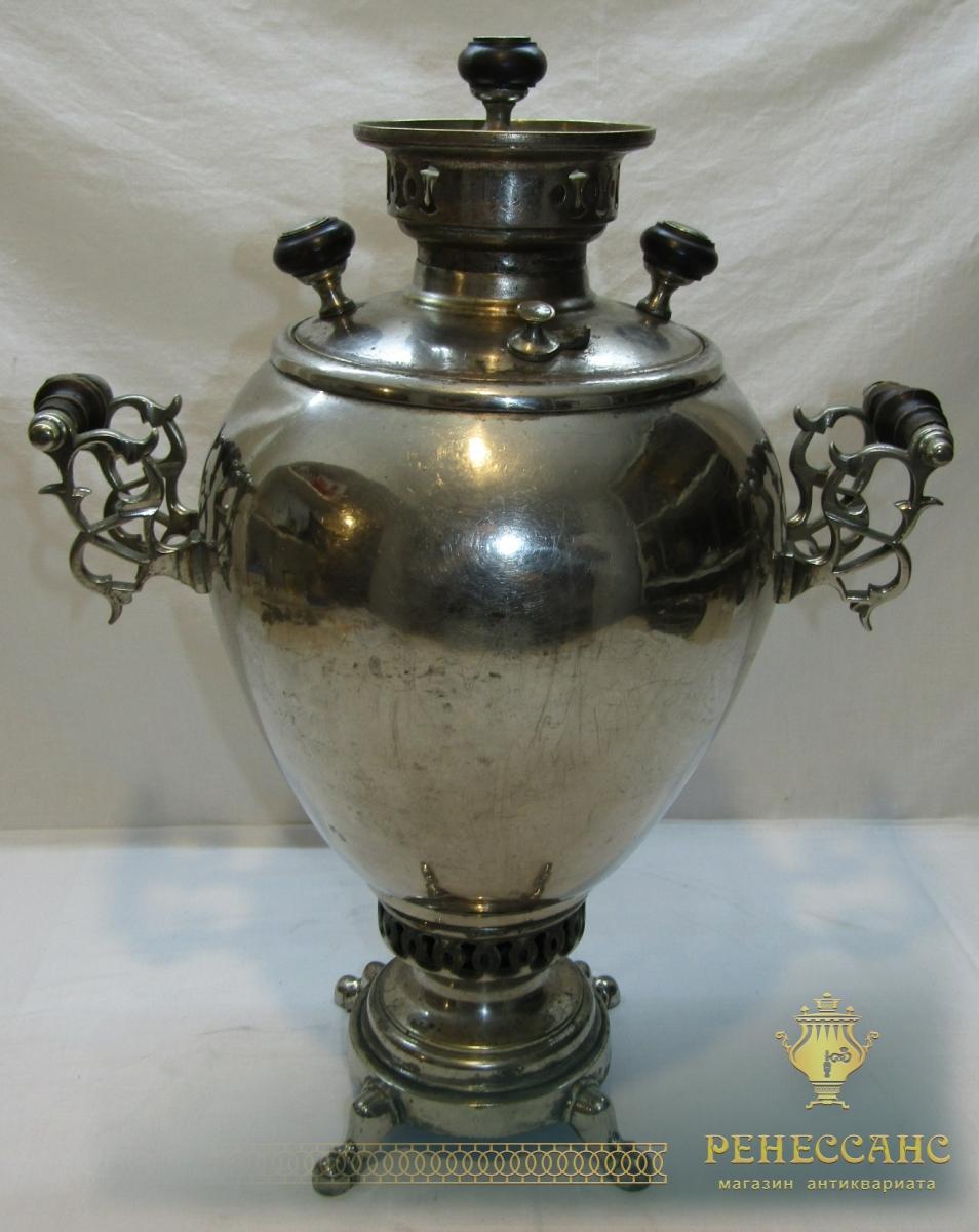 Самовар старинный угольный «яйцо», на 5 л, «Бр. Шемариных» №1021
