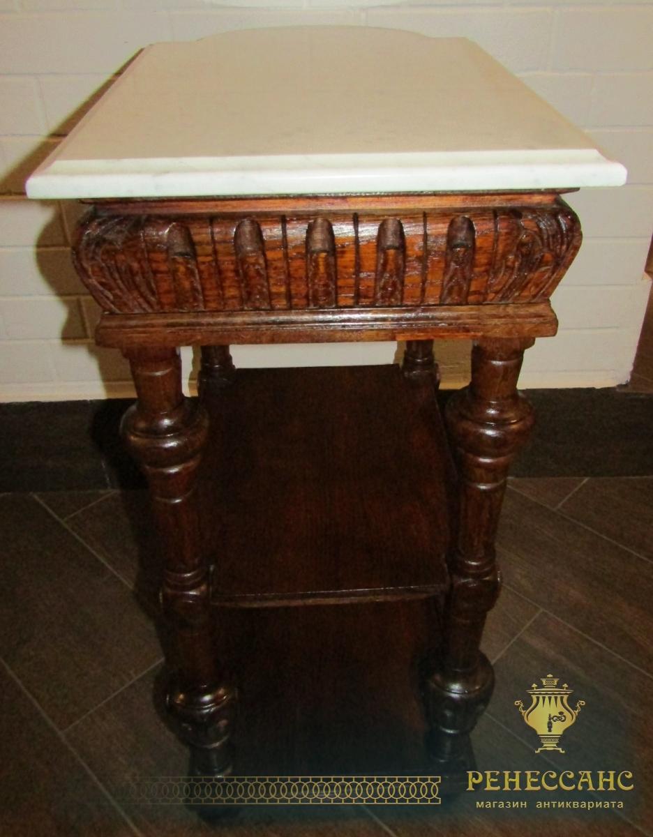 Столик самоварный, стол старинный, 19 век №4360