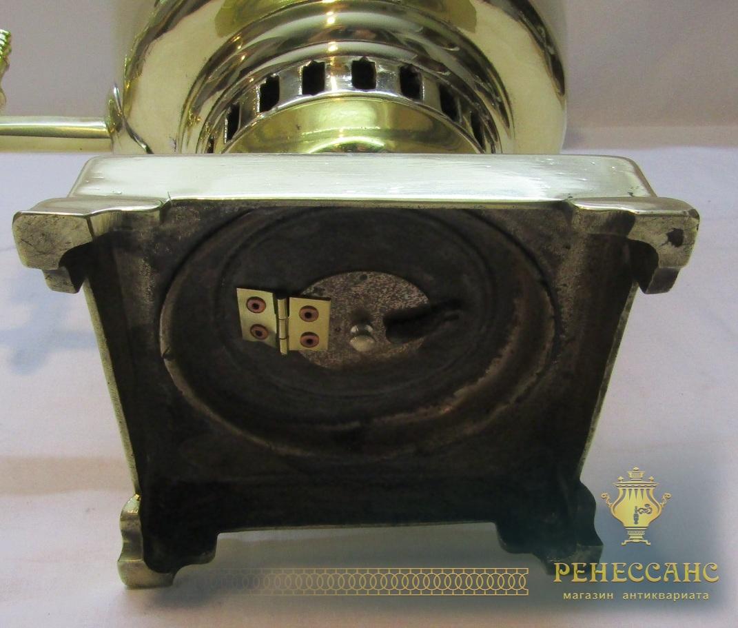Самовар старинный угольный «рюмка», на 5 л, «Бр. Шемариных» №1034