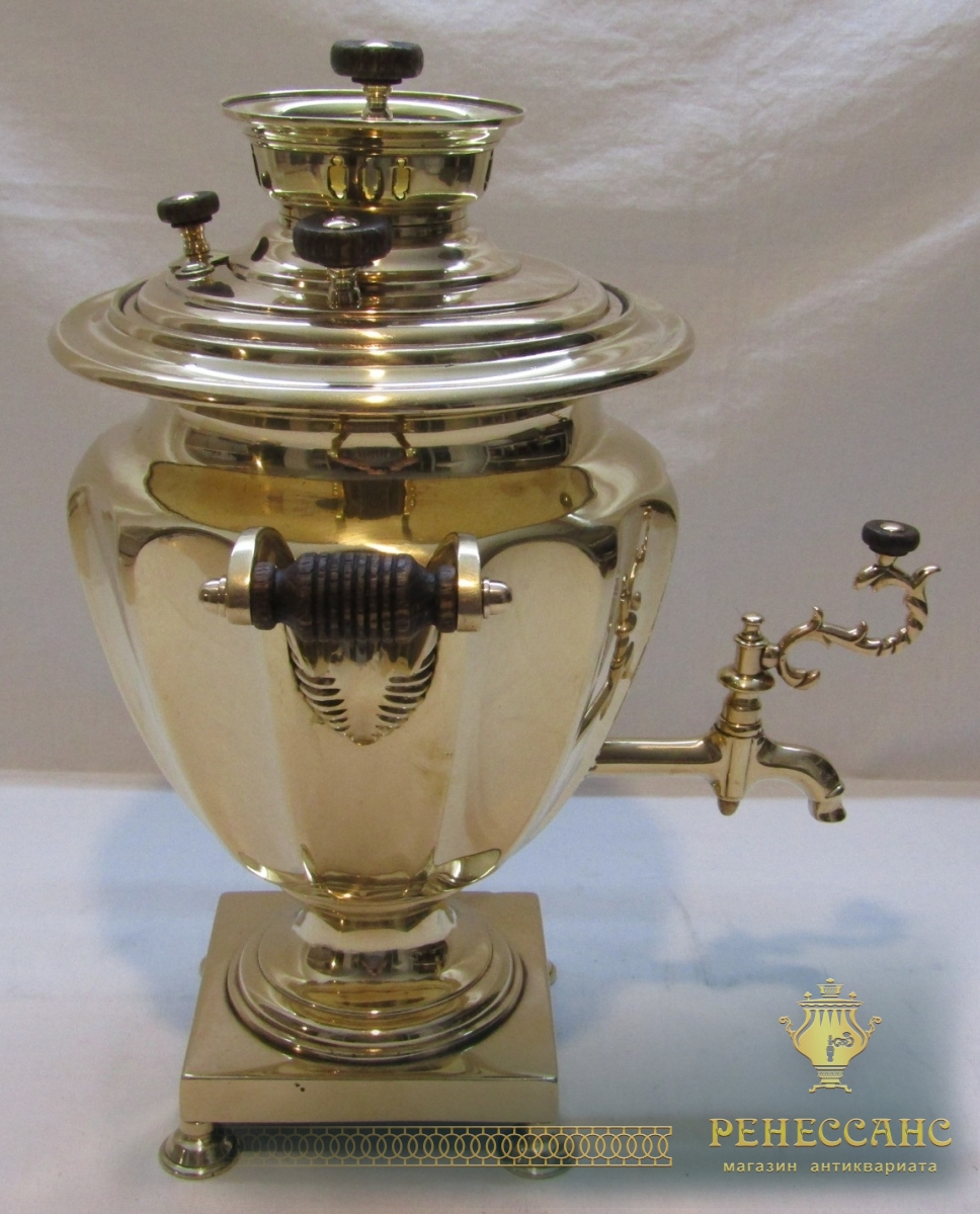 Самовар старинный на 2 л, томпак, «Маликов» 19 век №1036