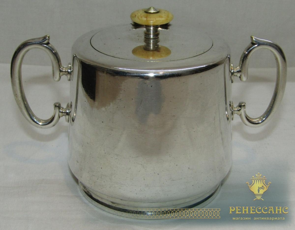 Сахарница старинная «Fraget» Варшава 19 век №4437