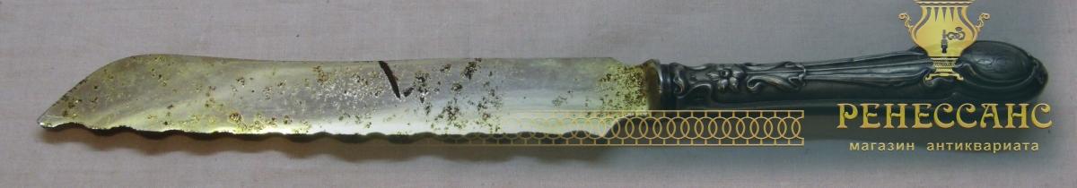 Нож старинный серебряный, 84 и 800 проба №4584