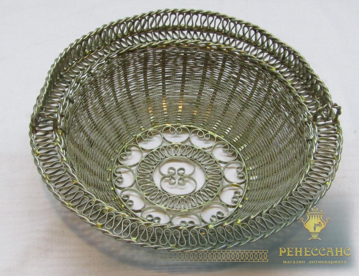 Конфетница старинная, вазочка, скань №4588