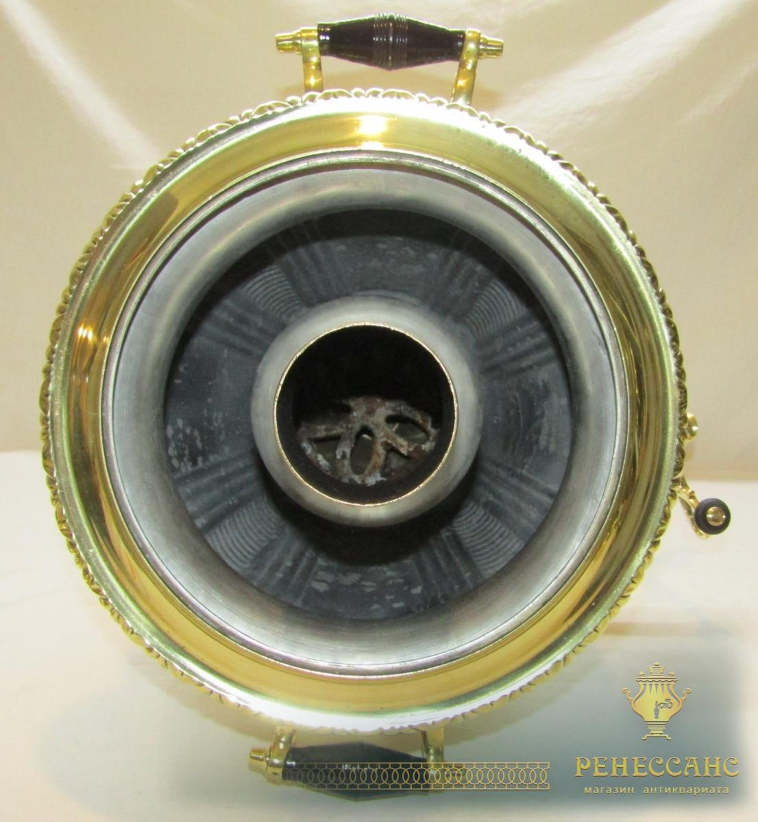 Самовар старинный угольный «рюмка», большой, «ТулПромТорг» №1056