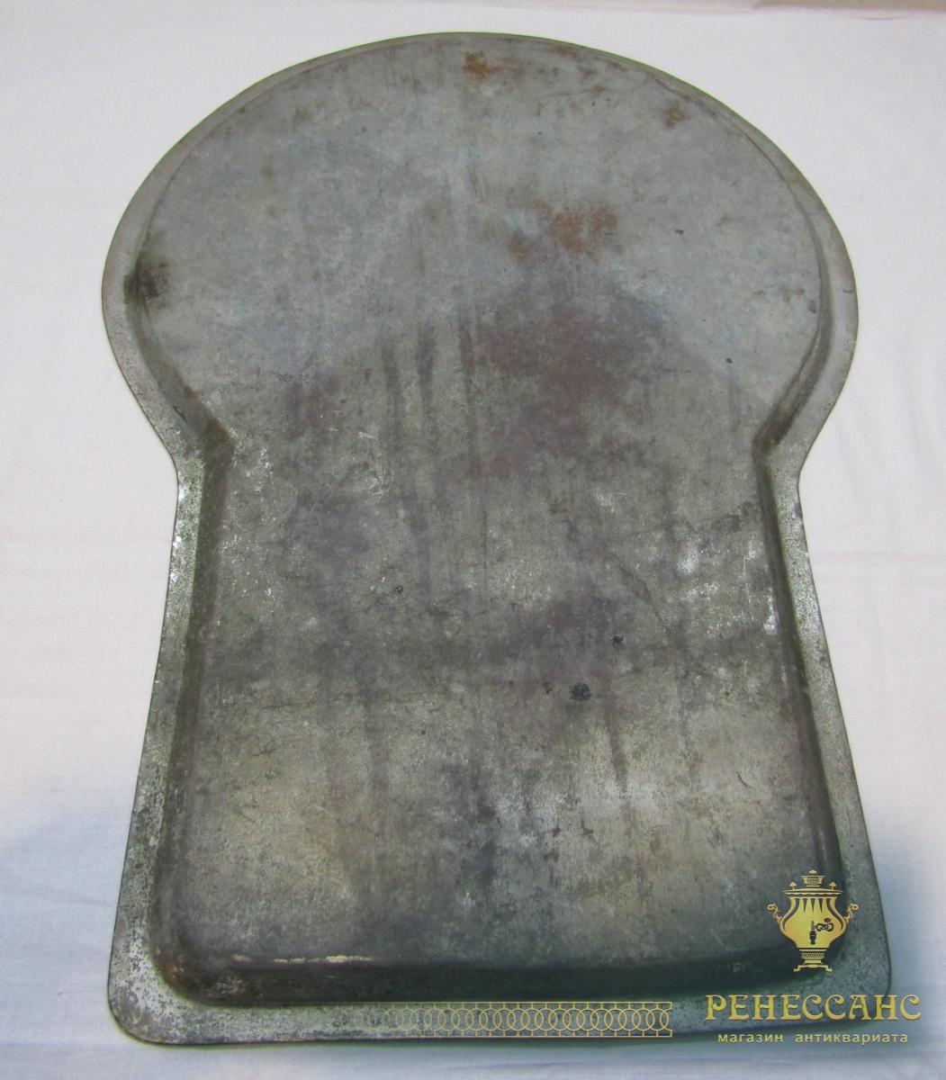 Поднос старинный под самовар «замочная скважина», огромный, «Чикина» 19 век №4491