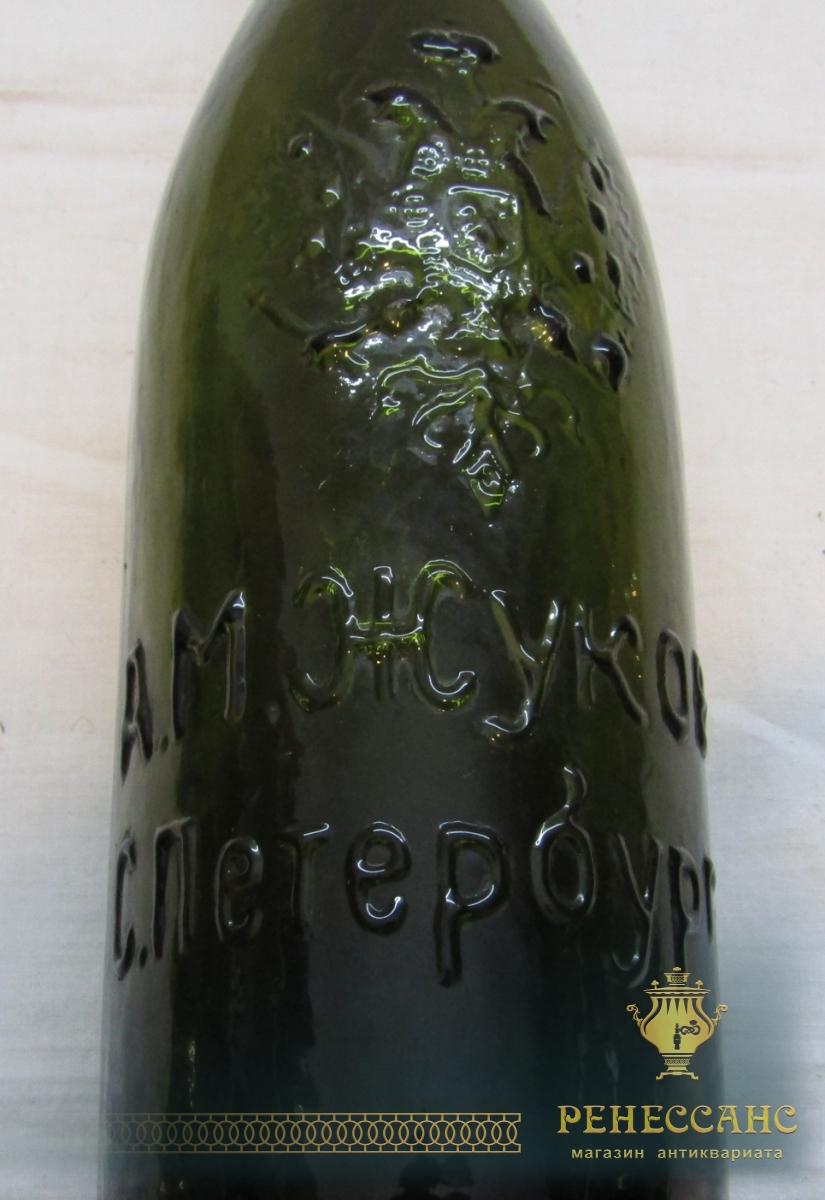 Бутылка пивная старинная «А.М. Жуков» №4649