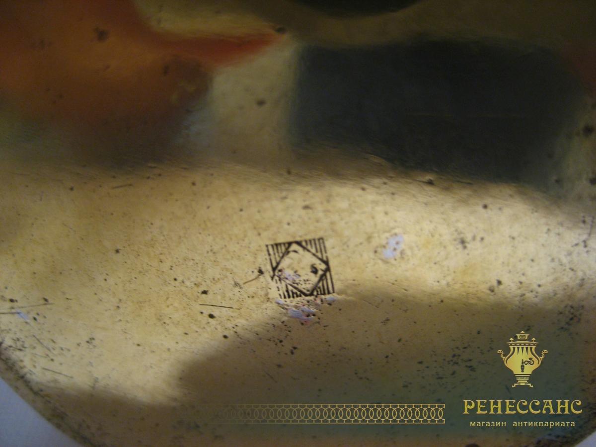 Сливочник старинный, латунный, WMF Германия №495