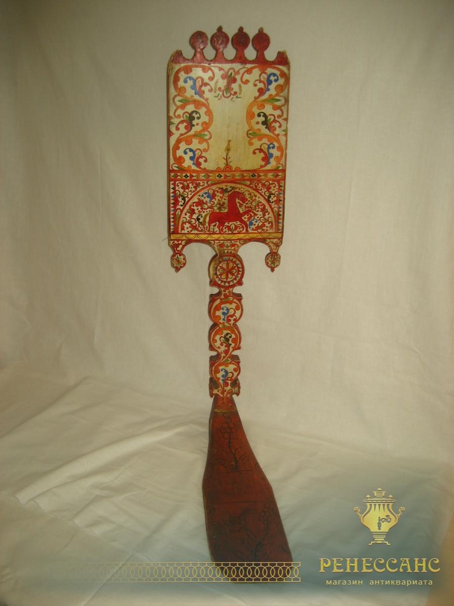 Прялка Северодвинская, борецкая роспись, Русский Север 19 век №204