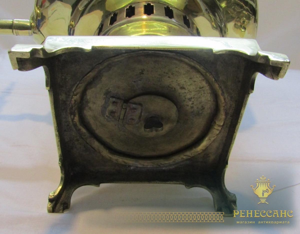 Самовар старинный угольный «банка», большой, на 12,5 л, Россия 19 век №1073