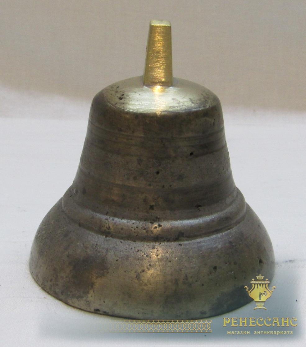 Колокольчик старинный бронзовый №4807