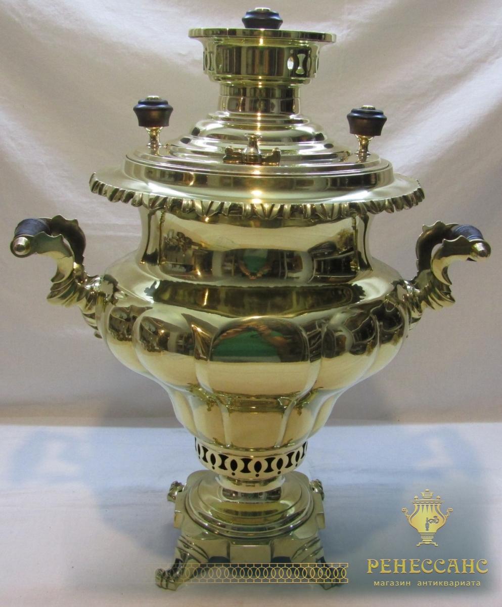 Самовар старинный угольный «И.И. Медведев» 19 век №1080