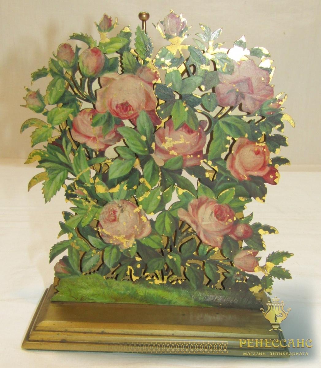 Фоторамка старинная в стиле модерн, бронза, эмаль, 19 век №5068