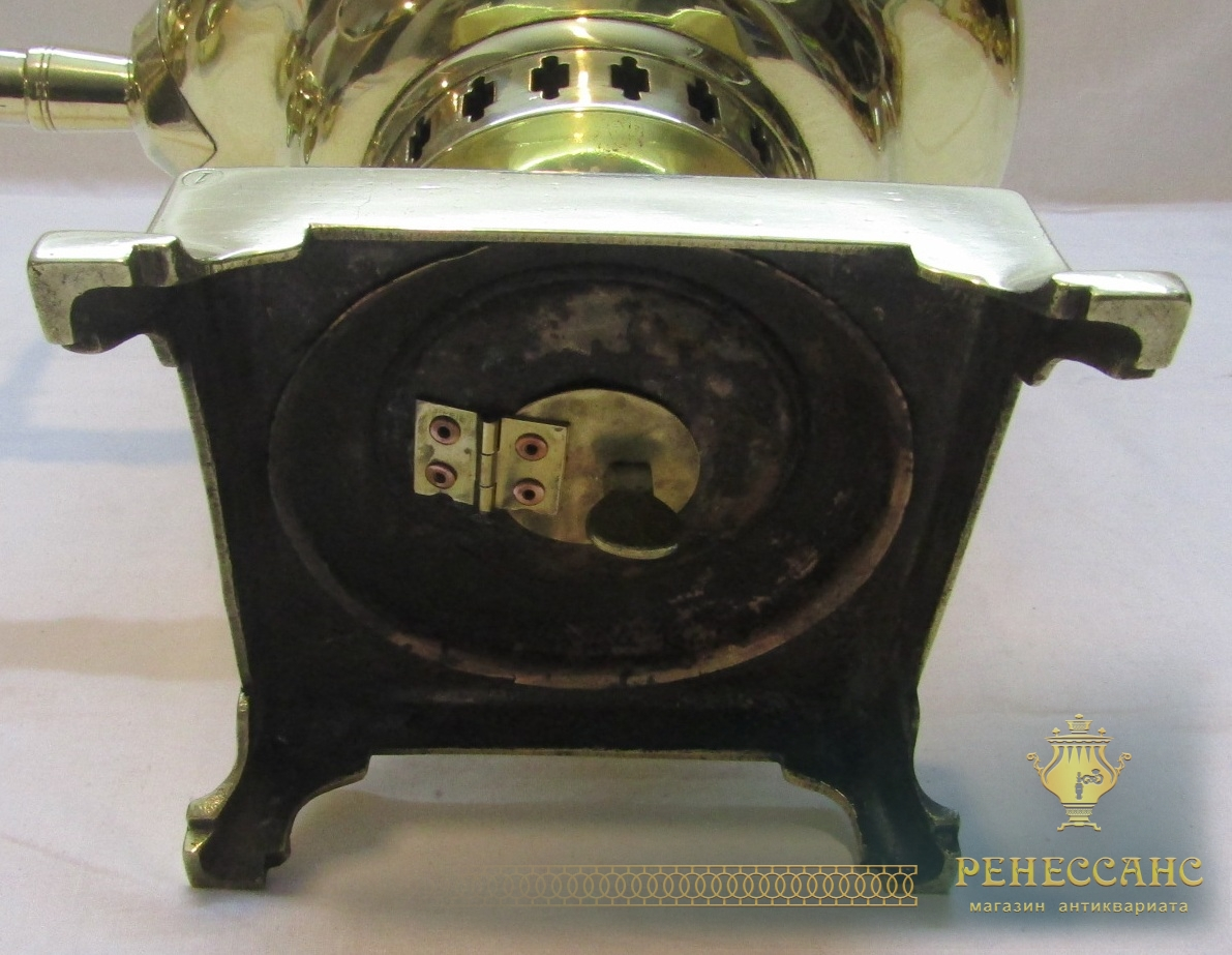 Самовар на дровах старинный «банка», с медалями, на 6 л, «В.С. Баташева» №1121