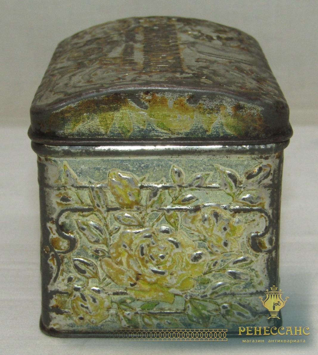 Чайница, банка жестяная «Чае Управление» №5690