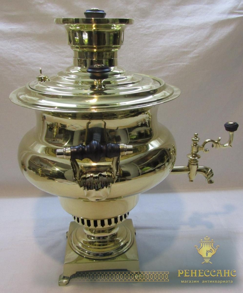 Самовар старинный угольный «репка» на 5,5 л, Россия 19-20 век №1172