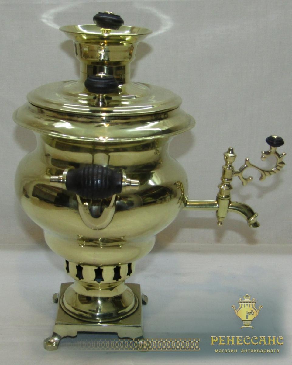 Самовар старинный «эгоист», на 1 л, Россия 19-20 век №1173