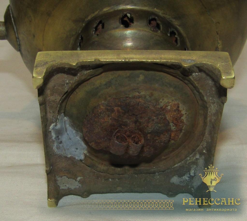 Самовар угольный старинный «эгоист» на 0,4 л, 19-20 век №1184