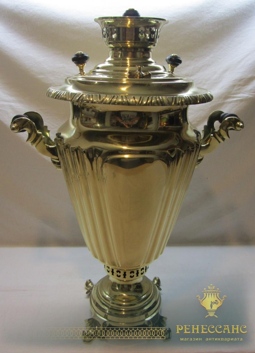 Самовар угольный старинный большой, на 8,5 л ,Россия 1920-е годы №1207