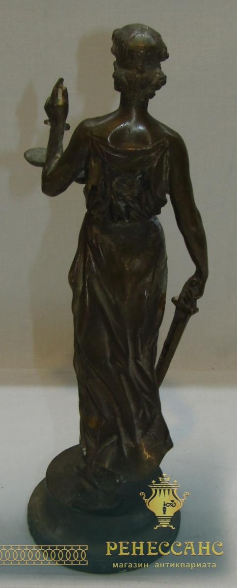 Скульптура, статуэтка «Богиня Фемида Правосудие» бронза №5888