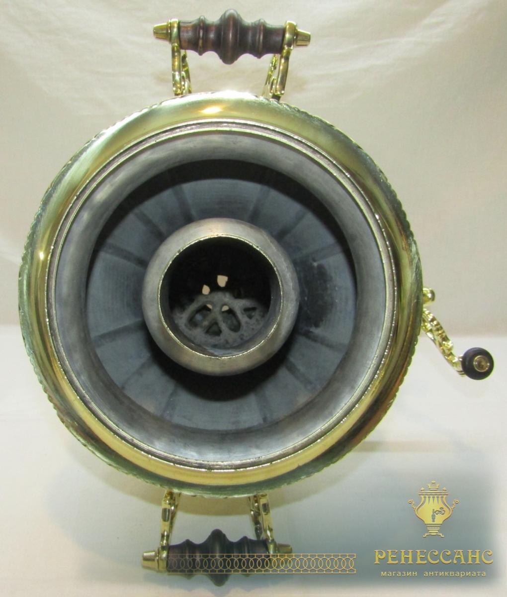 Самовар старинный угольный «груша», на 4 л, «Бр. Шемариных» №1228