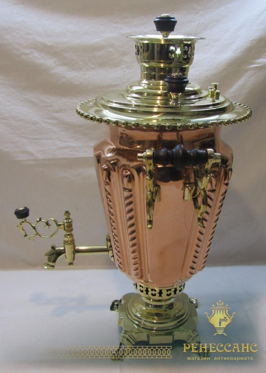 Самовар старинный медный «рюмка», модерн, «Баташев» №1238