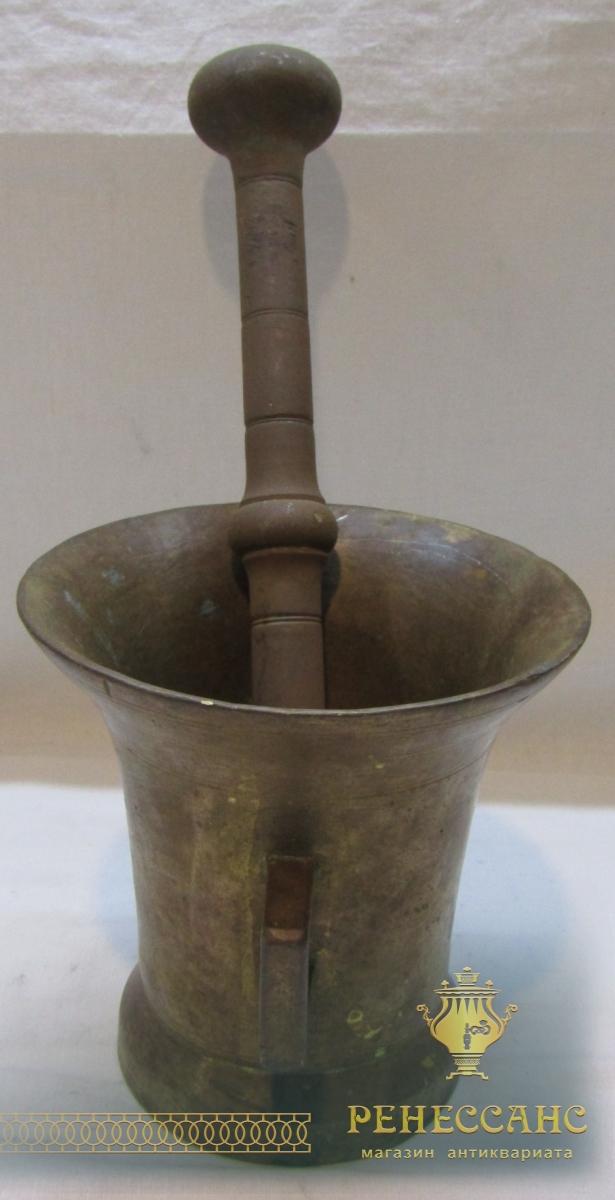 Ступа старинная, ступка с пестиком, редкое клеймо №6179