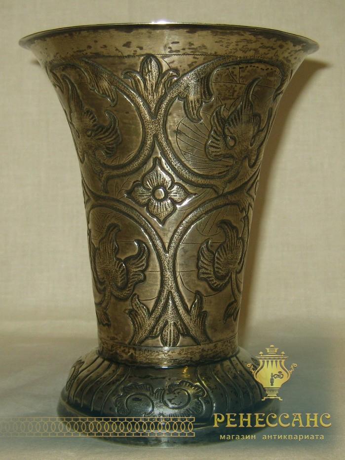 Ваза серебряная с орнаментом, Швеция 19 век №190