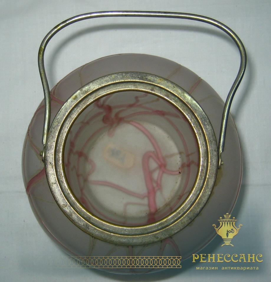 Бисквитница, чайница, конфетница, стекло, модерн, Россия конец 19 века №164