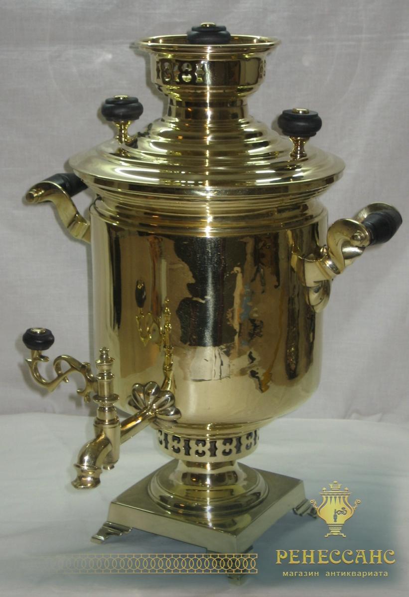 Самовар старинный угольный «банка», на 4 литра, П.С. Пучковыхъ №403