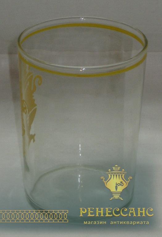 Стакан с самоваром, стекло, 1980-е годы №1324