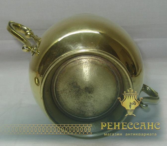 Сахарница латунная, старинная, начало 20 века №1326