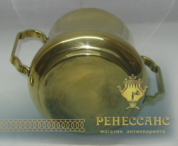 Сахарница старинная, из латуни, модерн №1344