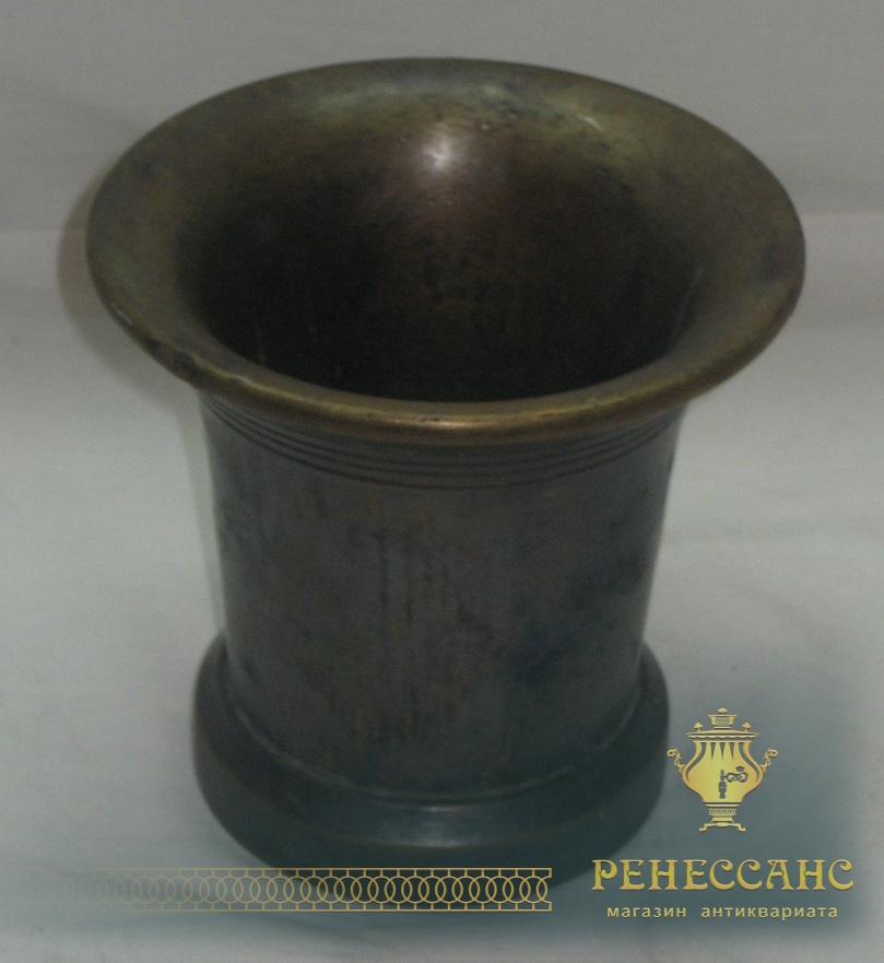 Ступа, ступка без пестика, в патине, Россия 20 век №1346