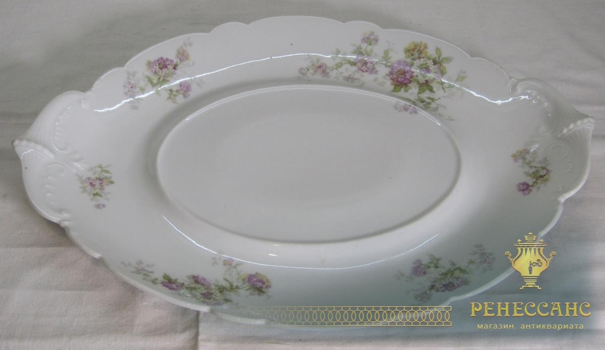 Блюдо старинное, тарелка, фарфор, клеймо №6767