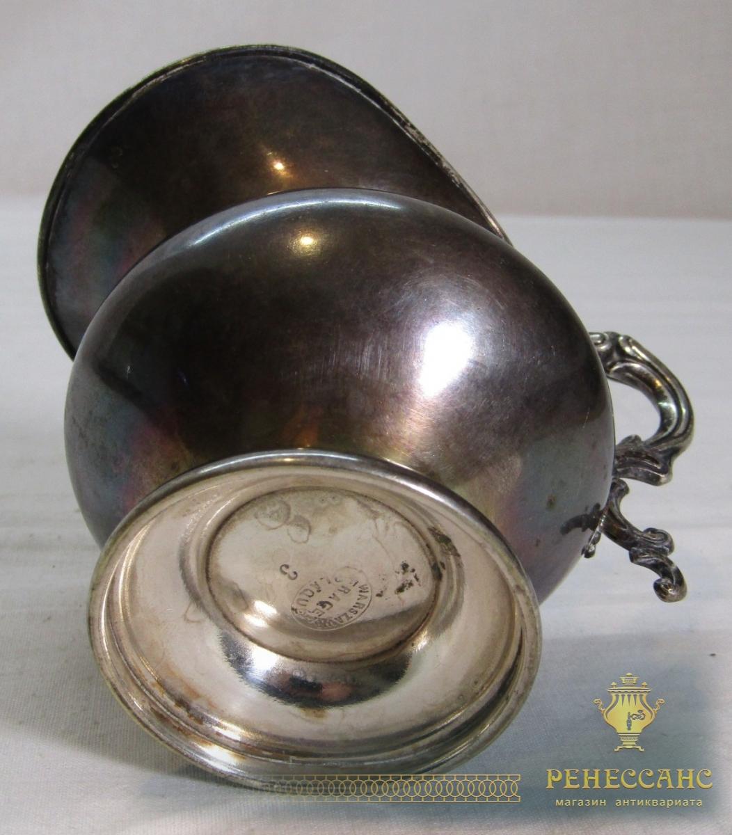 Сливочник старинный «Fraget» Варшава 19 век №6935