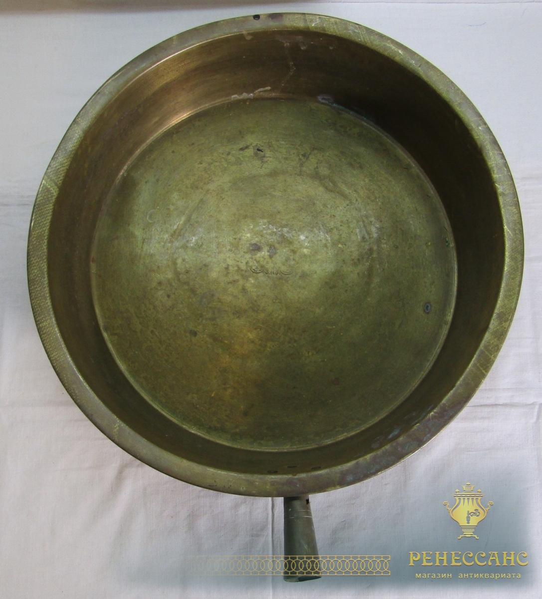 Таз латунный старинный, Россия 19 век №7122