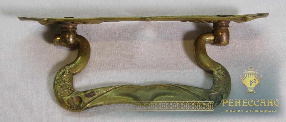 Ручка старинная от комода, модерн, бронза №7202