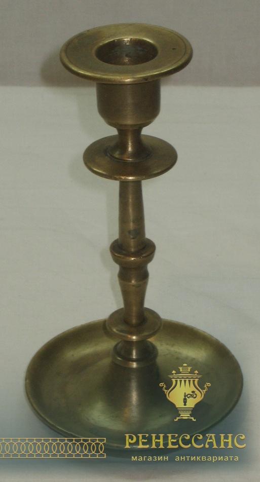Подсвечник из бронзы, Россия 19 век №1411