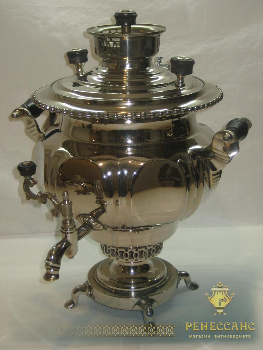 Самовар «ваза-гранная» на 5,5 литров, в никеле, Н.А. Воронцов №449