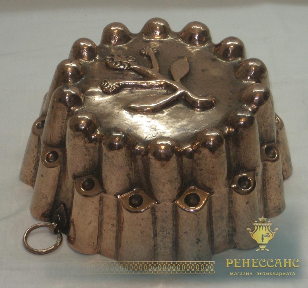 Форма медная для выпечки, для кекса, Россия 19 век №1510