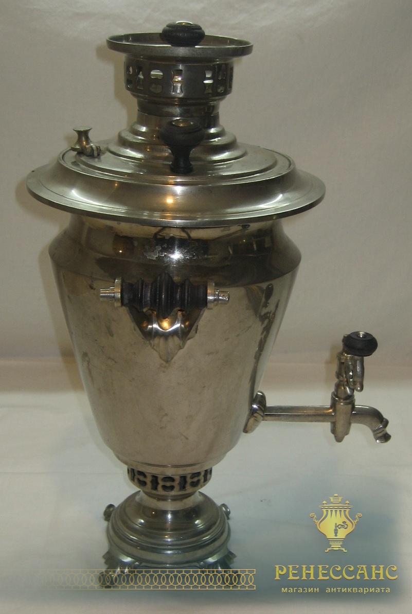 Самовар на дровах «рюмка», на 2 литра, «ТПЗ» Россия 1920-е годы №498