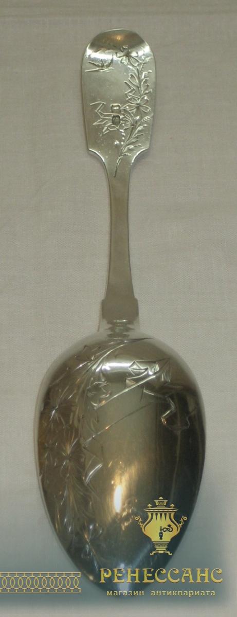 Ложка столовая, серебро 84 пробы, Россия 19 век №1470