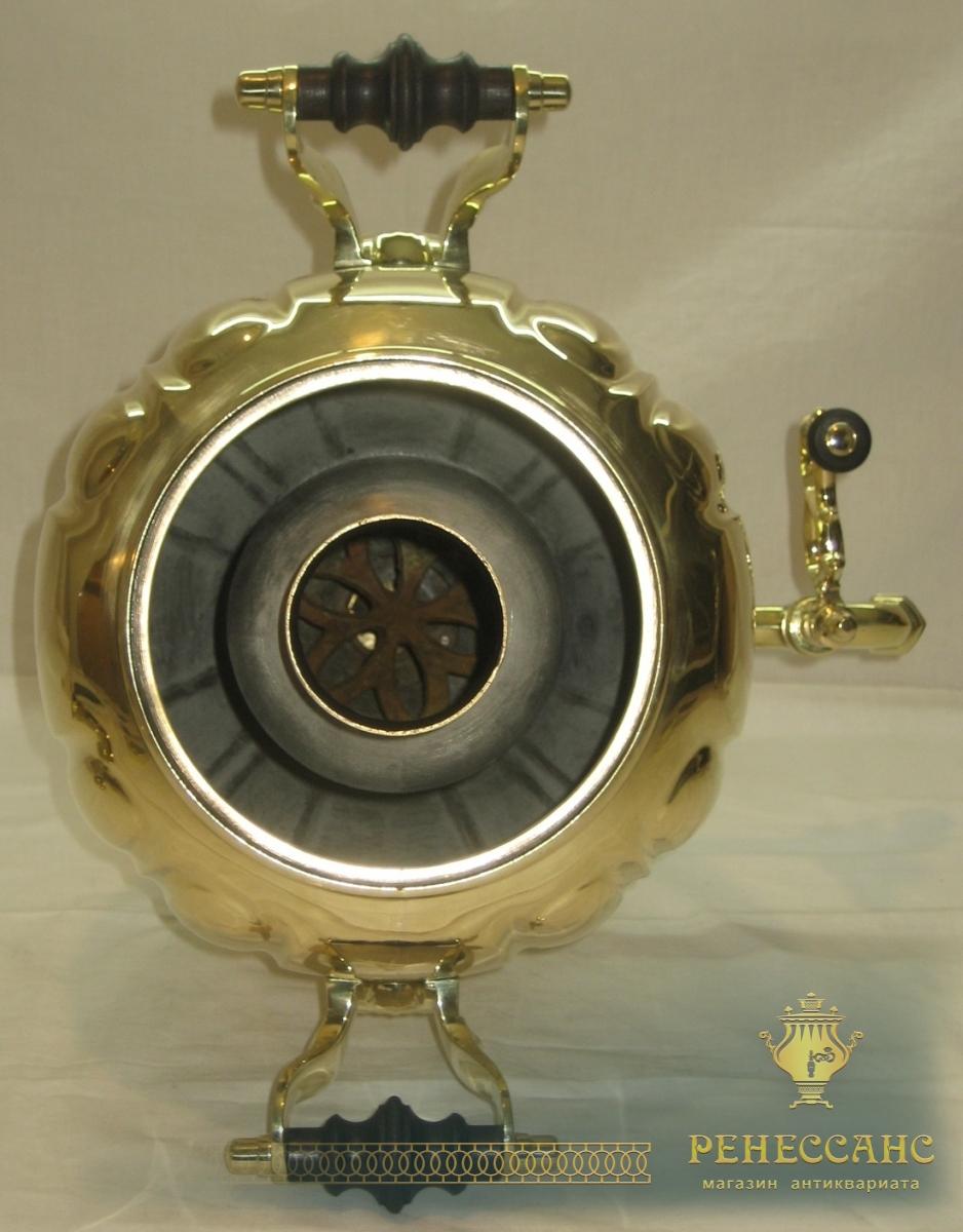 Самовар угольный «яйцо гранями», на 5,5 литров, «ТПЗ» Россия 1920-е годы №529