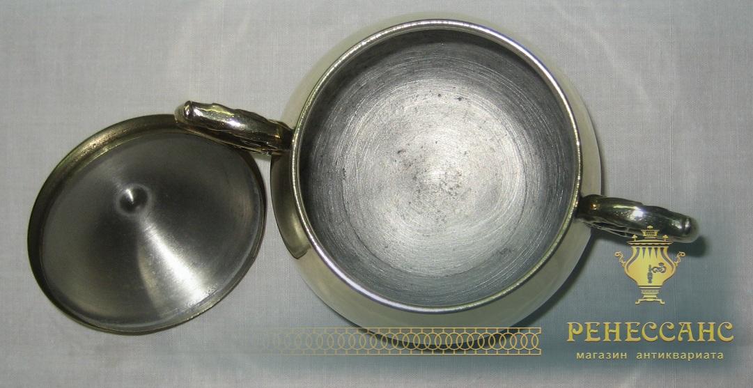 Сахарница из латуни начало 20 века №1118