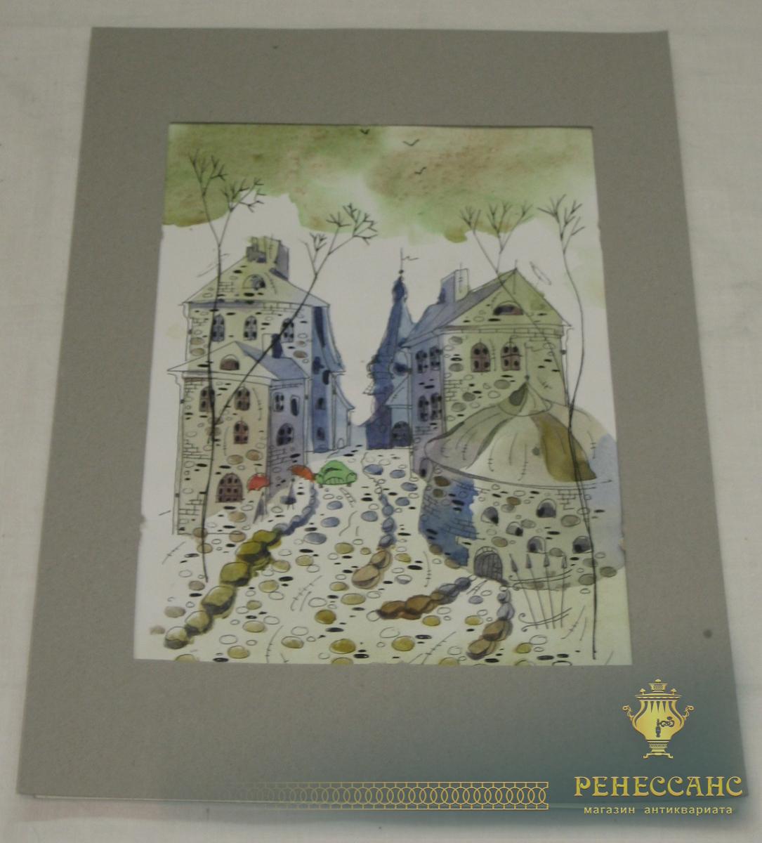 Картина «Выборг» акварель, 2003 год №1658