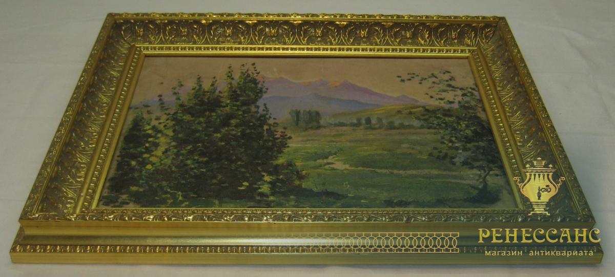 Картина «Пейзаж с горами» холст, масло, 20 век №1661