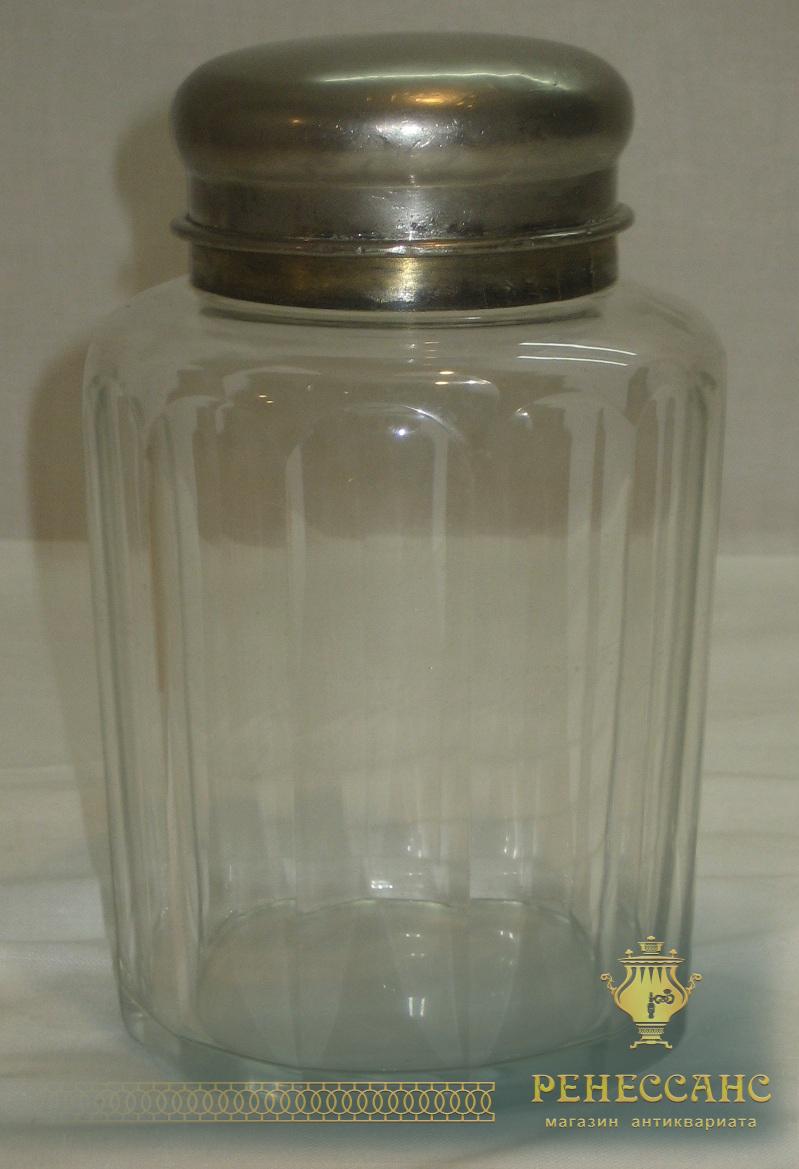 Чайница старинная, стекло, Россия 19 век №1706